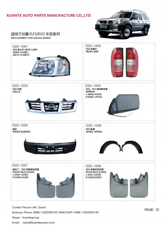 Plastic Head Lamp Car Body Spare Parts For Nissan Pickup Pick Up D22 ...