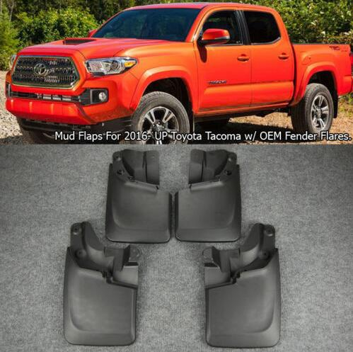 2016-2017 Toyota Tacoma Rubber Mud Guards / Car Mud Flaps Set 4 Piece OE PT345-35170 with screw
