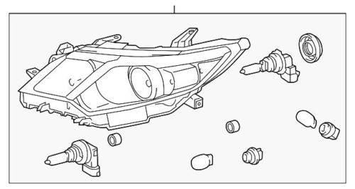 Toyota Headlamps Usa Camry 2012 81150